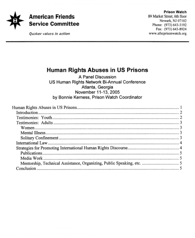 Human Rights report cover