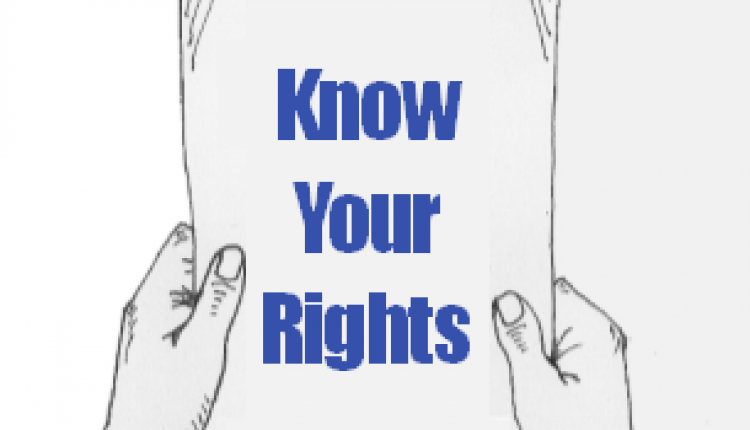 know your rights sign