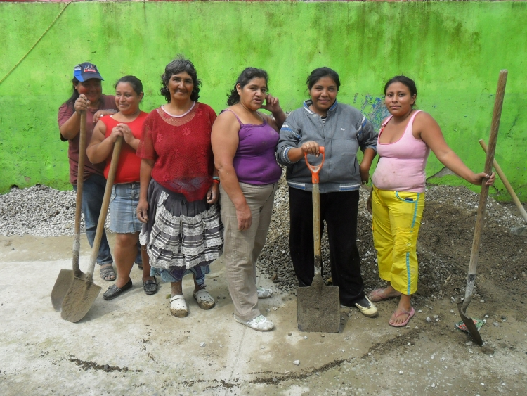 Women with shovels