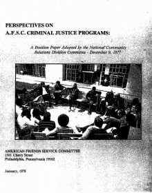 """Cover of """"Perspectives on AFSC criminal justice programs"""""""
