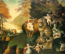 The Peaceable Kingdom by Edward Hicks at the National Gallery