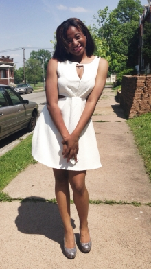Aja McCoy, St. Louis peace intern, summer 2014