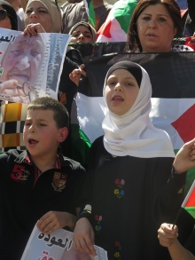 Children at a Nakba day protest in May, 2014