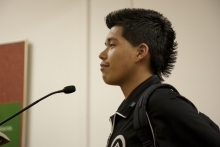 Student speaks at the Oakland School Board meeting