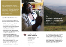 Kenya program brochure cover