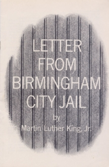 Letter from Birmingham City Jail cover from the original 1963 AFSC edition