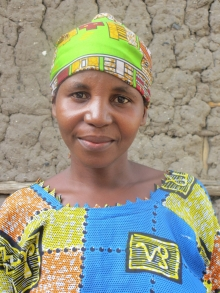 Anne-Marie, a resident of a Peace Village in Burundi