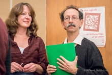 Maggie Fogarty and Arnie Alpert staff the AFSC's New Hampshire Office.