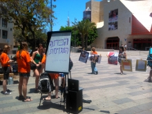 Military-free education - Action day in Tel Aviv