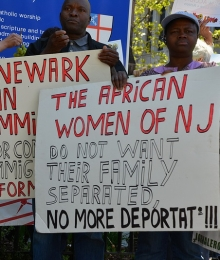 Newark immigration demonstration