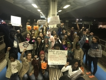 Young people with No Cop Academy in Chicago