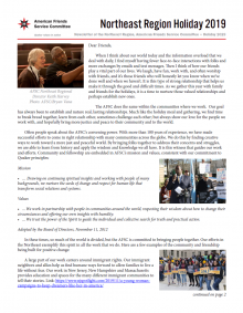 Northeast Region Newsletter Holiday 2019 Cover