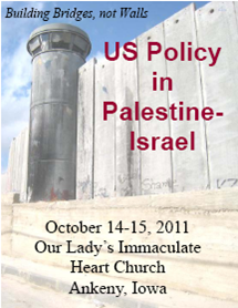 Iowa Palestine-Israel conference label