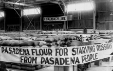 Pasadena flour to be shipped to Russia for famine relief in 1922