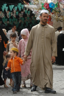 People on the streets of Damascus