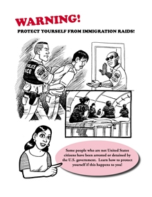 Warning, Protect yourself from immigration raids