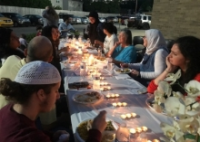 Umaymah Mohammad helped organize this Solidarity Iftar dinner in Indy.