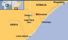 A map of southern Somalia