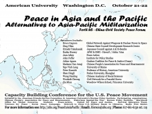 Peace in Asia and the Pacific Conference Flyer