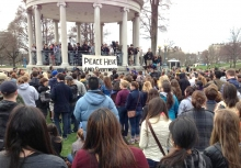 People gather for a vigil on Boston Common