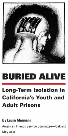 cover of Buried Alive report on California prisons