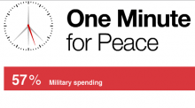 One minute for peace logo