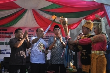 Aceh lighting of peace torch