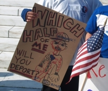 which half do you deport protest sign