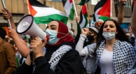 Protest in Oakland to support Palestinians