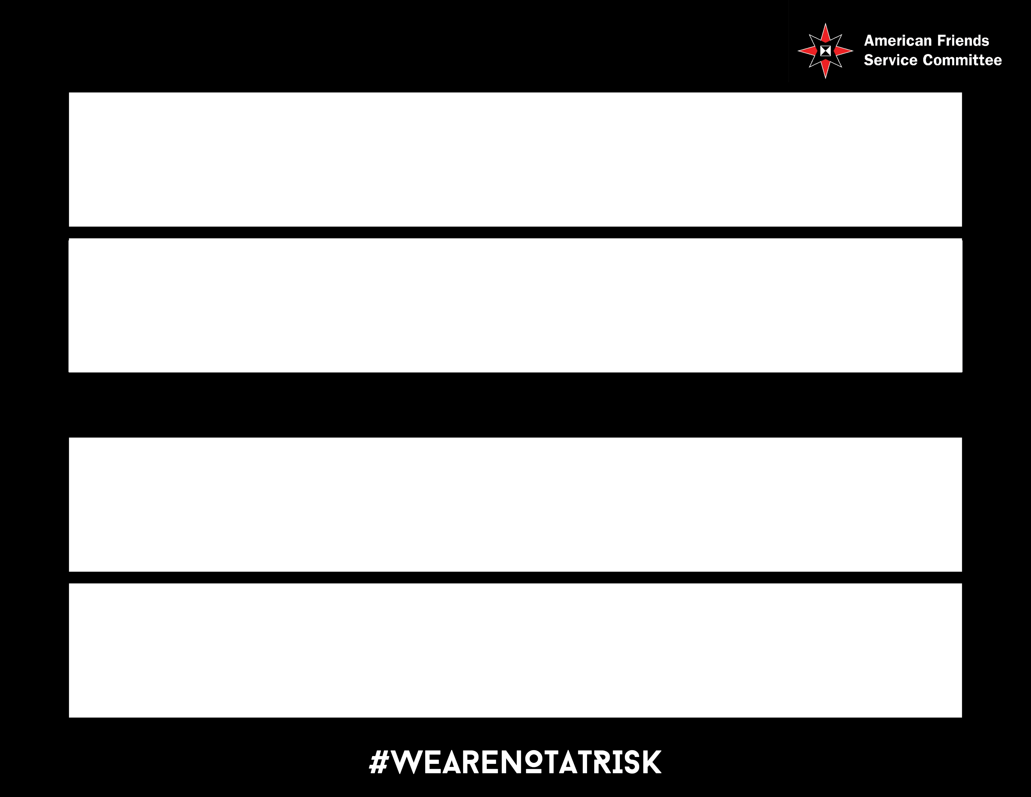 We are not at risk sign_Blank