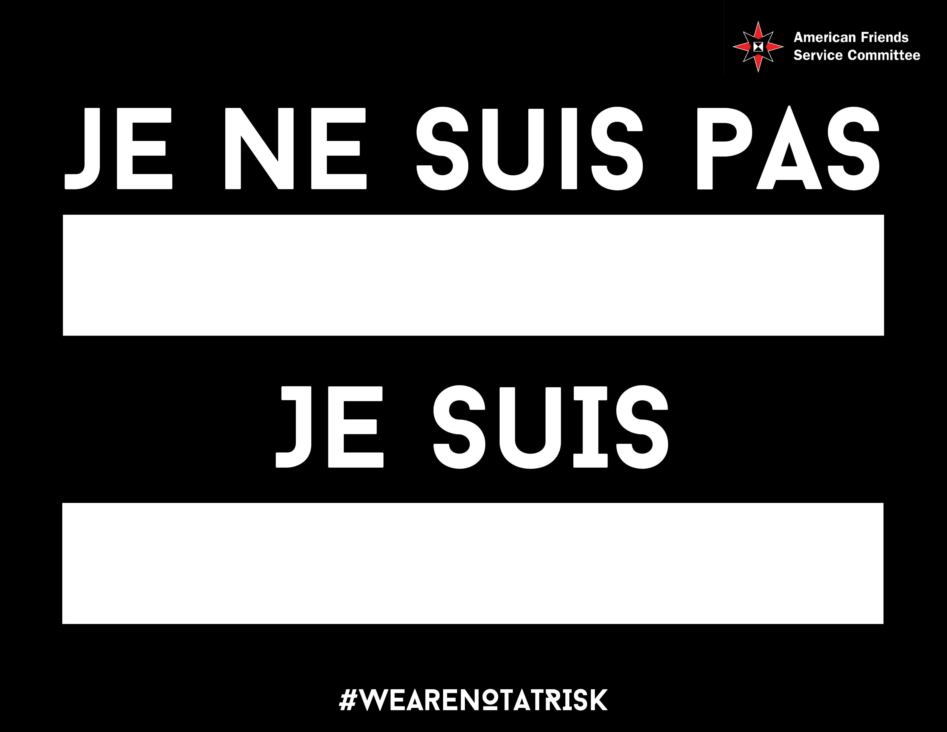 We are not at risk sign_French