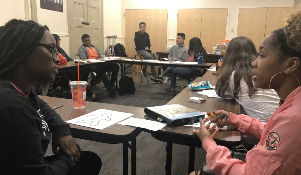 Students participate in activities that highlight gender-based oppression