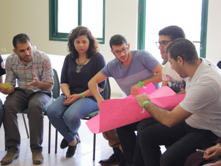 Young participants in one of the sessions. March 2015.