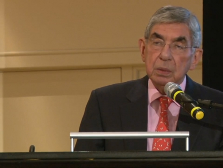 Oscar Arias speaks at the closing of the AFSC Centennial.