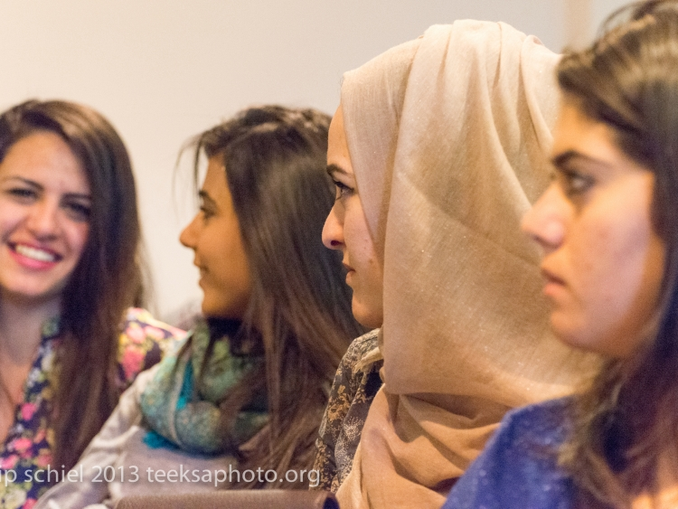 Youth activisits during one of the sessions in Jericho, West Bank. March 2015.