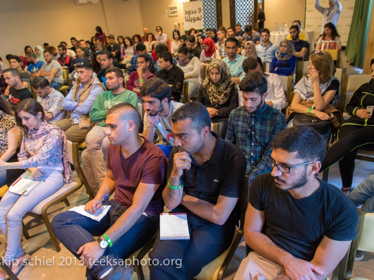 Participants listen to a lecture on the first day. Jericho/West Bank. March 2015
