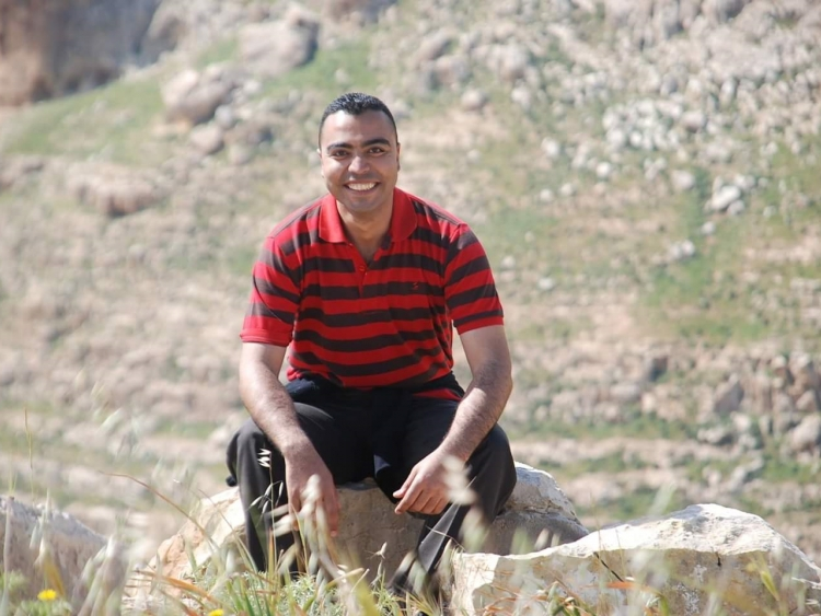 Ibrahim Al Talla', 26, from Gaza, is one the new comers to the Project.