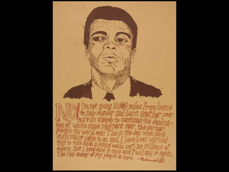 People's History poster of Muhammad Ali