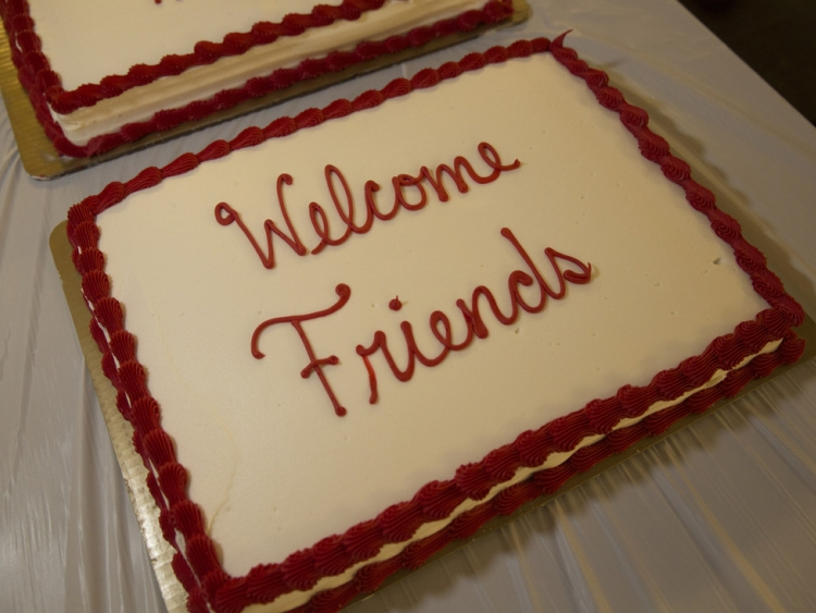 Welcome Friends cake