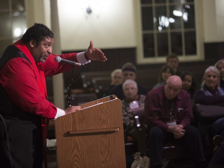Rev. Dr. William Barber at the 2016 AFSC Corporation Meeting