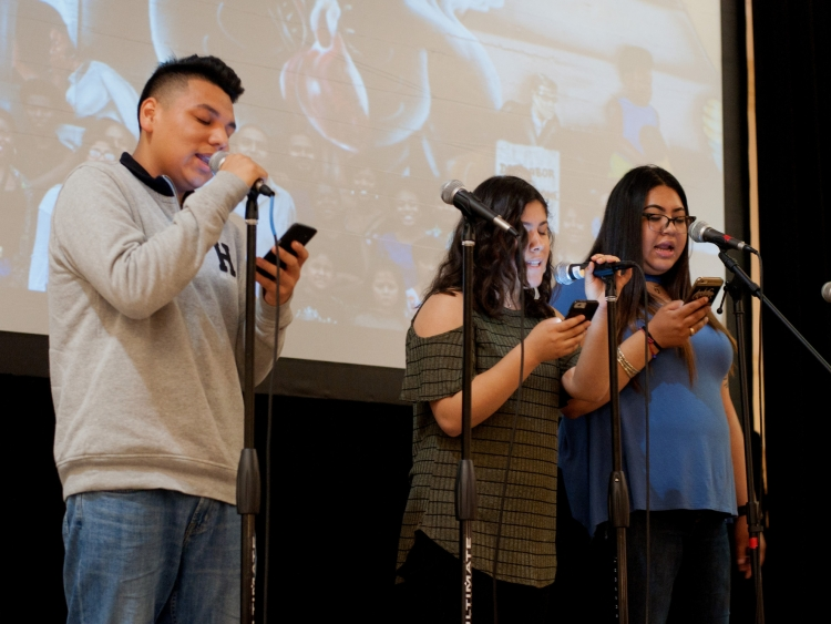 Youth from 67 Suenos perform at Centennial opener.
