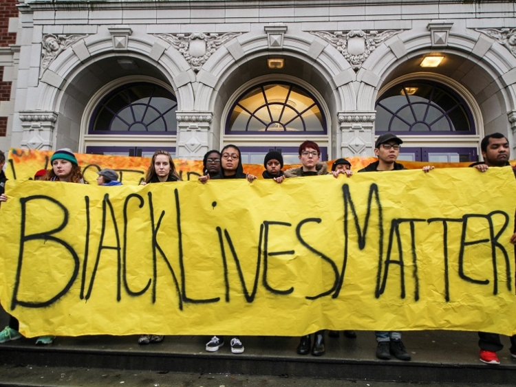 Mike Brown and Eric Garner protest in Seattle 2014