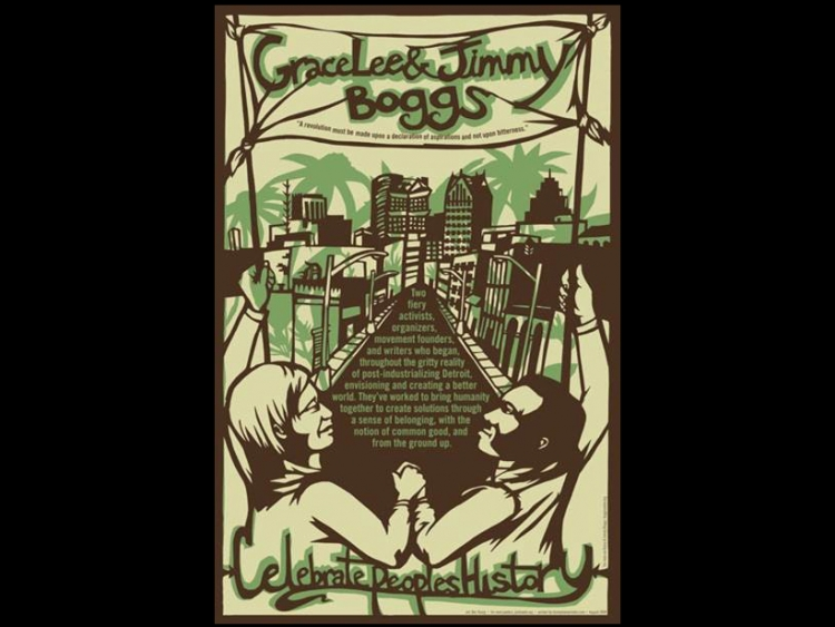 People's  history poster of Grace and Jimmy Boggs