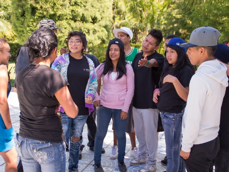 Young Guatemalans engaging in a group activity
