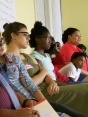 Young people listen intently at St. Louis Freedom School