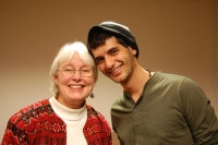Cindy Corrie and Iyyad Rayyan in Des Moines. Photo by Michael Gillespie.