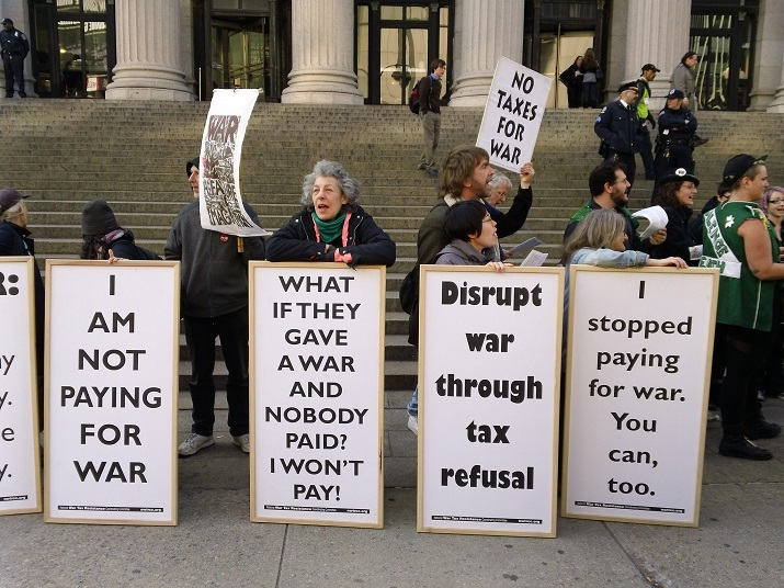 2013 protest by the War Resistors League, photo by All-Night images via Flickr CC