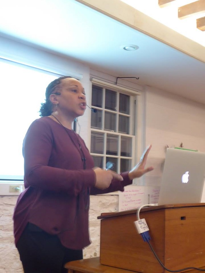 "Dr. Joy DeGruy teaches about ""Post Traumatic Slave Syndrome"" at Pendle Hill"