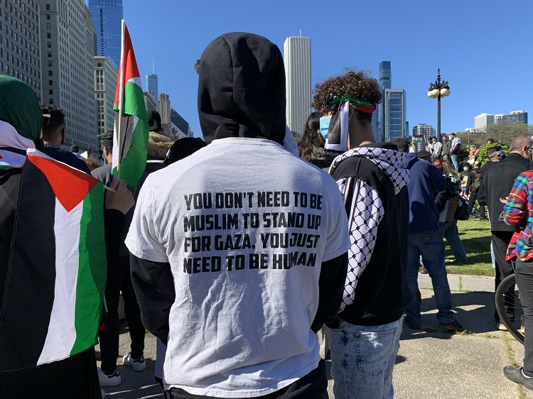 Protest in support of Palestine, Chicago, May 2021