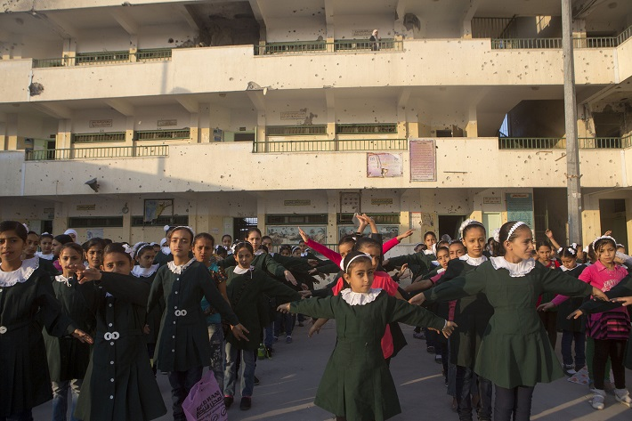 Sobhi Abu Karsh Basic school, Shuijayea, photo by Anne Paq, ActiveStills
